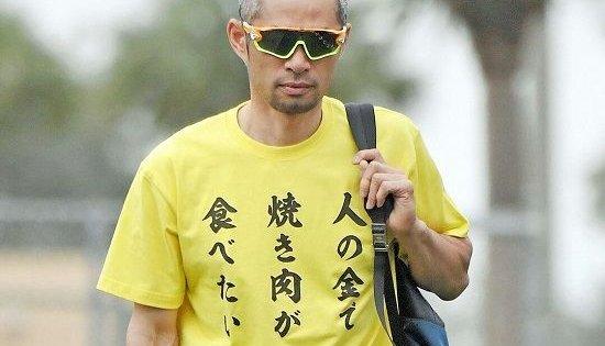 偉業と共に語り継ぎたいイチローのTシャツコレクションwwwwww
