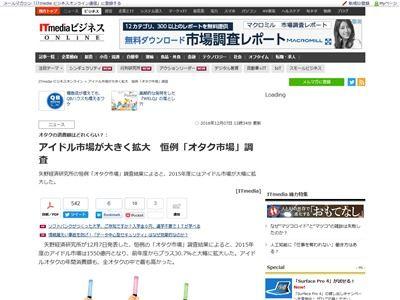 オタク 消費額 アイドルオタク ボーカロイドに関連した画像-02