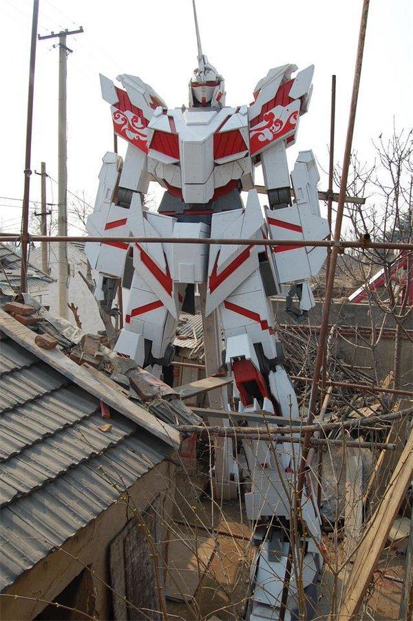ガンダム ユニコーンガンダム 中国 美大生 台湾 農家 農村 模型に関連した画像-03