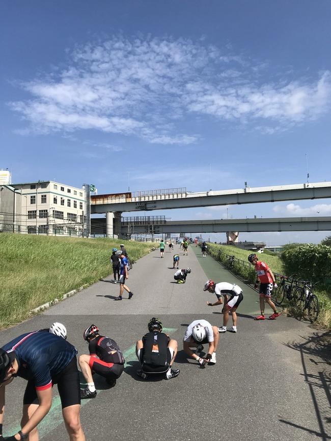 荒川 サイクリングロード 釘 自転車 ロードバイクに関連した画像-03