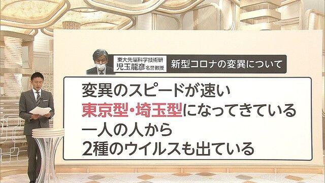 新型コロナウイルス 東京型 埼玉型 変種 ウイルス 感染者に関連した画像-01