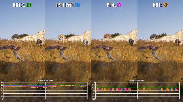 PS4Pro XboxOneX アサシンクリード オデッセイ 動画 画質比較に関連した画像-03