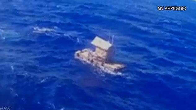 いかだ 遭難 漂流 救助 少年 魚 水分 食料に関連した画像-04