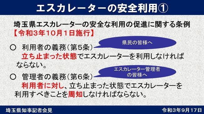 エスカレーター 埼玉県 条例に関連した画像-02