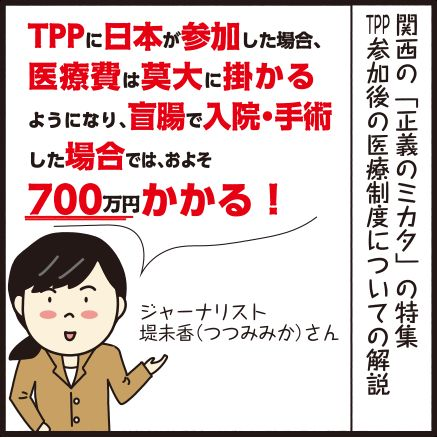 TPP 盲腸 医療費 国民健康保険 アメリカ 保険 ジャーナリスト テレビに関連した画像-03