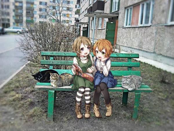 アニメ 実写 コラ 現実世界 ロシア 流行に関連した画像-05