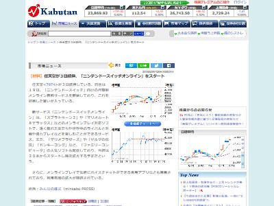 ニンテンドースイッチオンライン株価に関連した画像-02