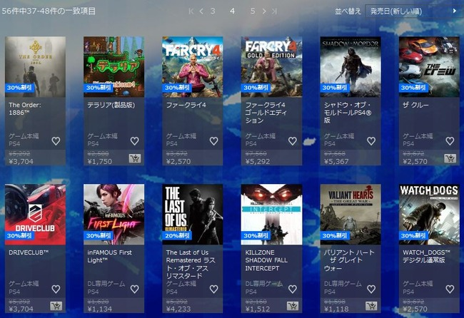 PS4 DL セール 期間限定 フォールアウト4 ウィッチャー3に関連した画像-07