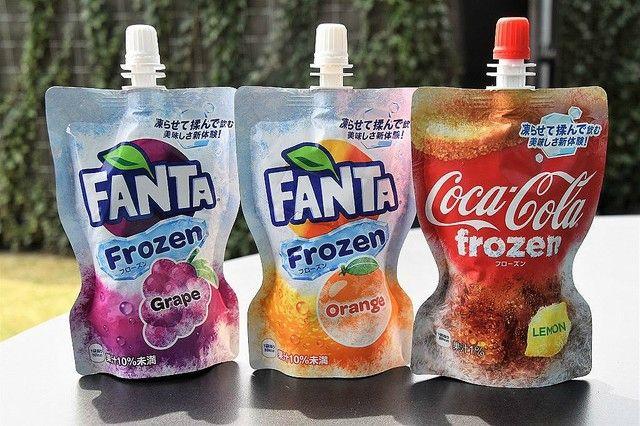 コーラ コカ・コーラ フローズン ファンタ オレンジ グレープ 世界初に関連した画像-01