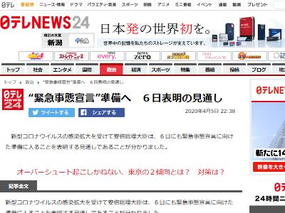 新型コロナ 日本政府 安倍総理 緊急事態宣言に関連した画像-02