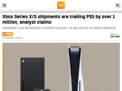 XboxSX XboxSS PS5 出荷台数に関連した画像-02