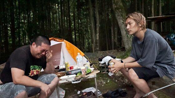 へずまりゅうキャンプ涙に関連した画像-01