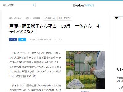 訃報 声優 藤田淑子 キテレツ 八神太一に関連した画像-02