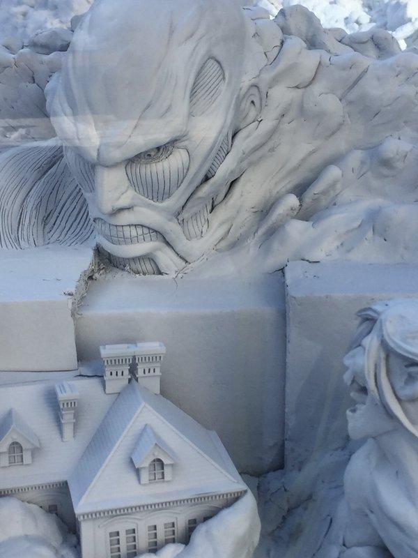 進撃の巨人 さっぽろ雪まつり 巨大雪像 ラブライブ! 札幌雪まつりに関連した画像-03