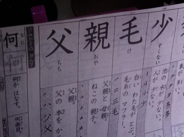 プリント 宿題 父 娘 国語 漢字 髪 毛髪 頭髪 偶然に関連した画像-02
