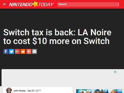 ニンテンドースイッチ LAノワール スイッチ税に関連した画像-02