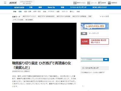 大田区 職質 暴走 ひき逃げ 中川真理紗容疑者に関連した画像-02
