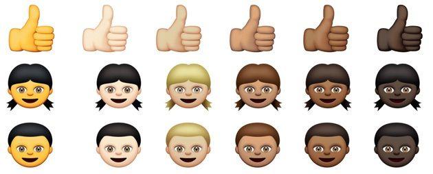 iPhone iPad iOS 顔文字 人種 差別 肌 髪 目 色に関連した画像-01