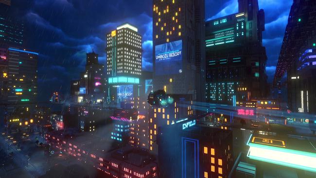 愛媛県 警察署 ネオンサイン SF サイバーパンク 近未来都市に関連した画像-01