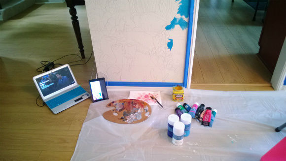 06-a-closeup-of-my-setup-and-pencil-drawing-of-the-coral
