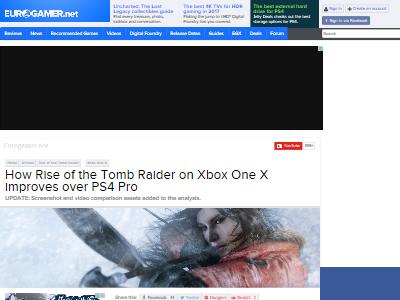 PS4Pro XboxOneX グラフィック 比較 ライズオブトゥームレイダー ハードに関連した画像-02
