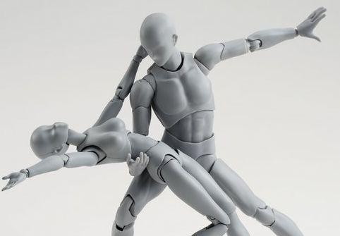 絵師 フィギュア ボディくん ボディちゃん 可動 刀 銃 装備 ポーズに関連した画像-01