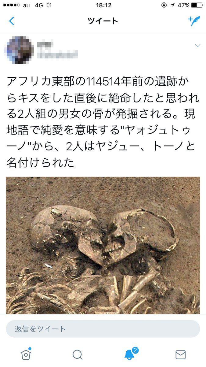 淫夢厨 淫夢ネタ ツイッター ヤォジュトゥーノ 釣られる 骨 114514年前に関連した画像-02