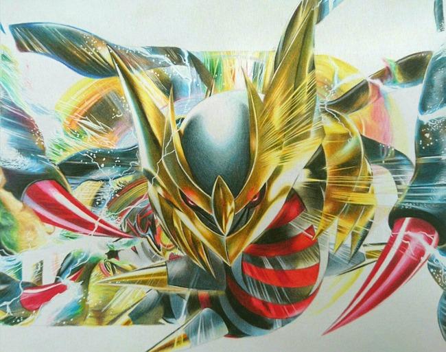 色鉛筆 ギラティナに関連した画像-03