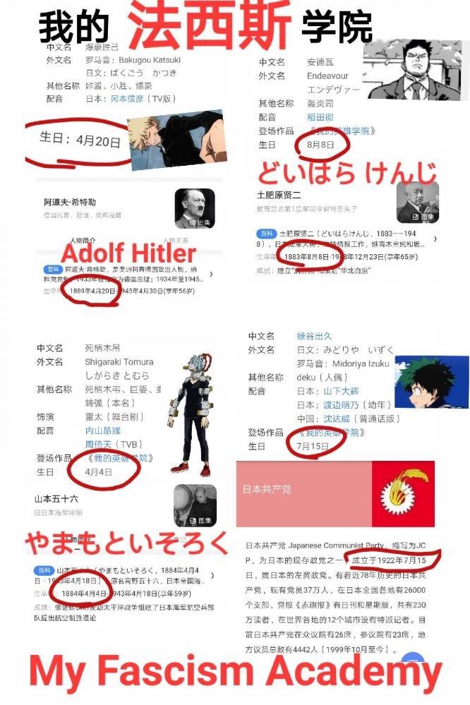 僕のヒーローアカデミア ヒロアカ 炎上 丸太 ヒトラー 韓国人 誕生日 爆豪勝己に関連した画像-02