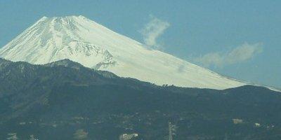 富士山と蒸気
