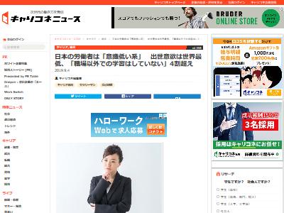 日本労働者意識低い調査に関連した画像-02