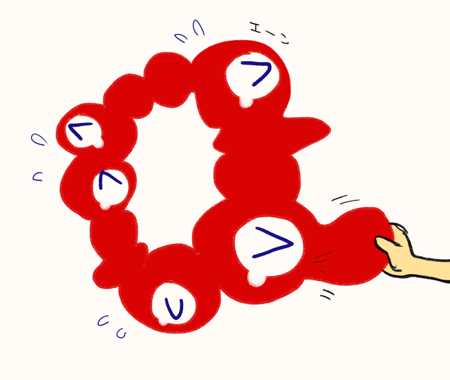 大阪・関西万博 ロゴ グロ 二次創作 イラスト ツイッター かわいいに関連した画像-11