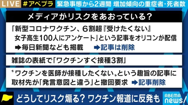 新型コロナ ワクチン マスゴミ 新聞 テレビ メディア 反ワクチン 佐々木俊尚に関連した画像-02