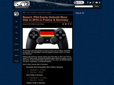PS4 XboxOne ドイツ フランスに関連した画像-02