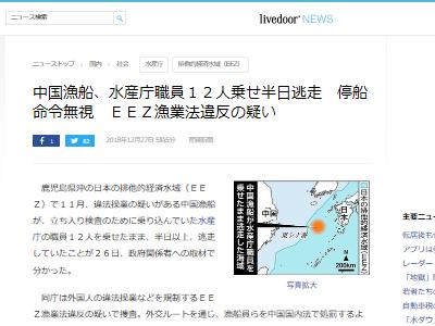 鹿児島 排他的経済水域 中国 水産庁 違法操業に関連した画像-02