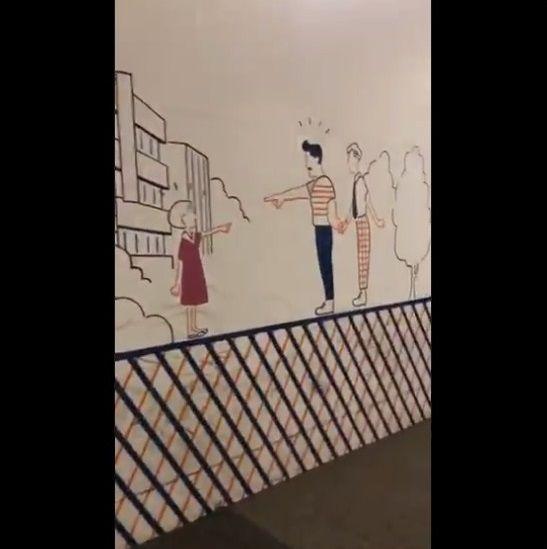 渋谷 工事中シャッター 絵に関連した画像-20