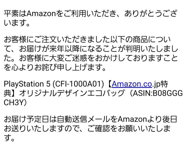 PS5 Amazon 来年 発送 エコバック 出荷に関連した画像-03