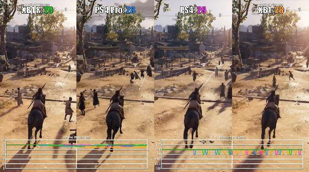 PS4Pro XboxOneX アサシンクリード オデッセイ 動画 画質比較に関連した画像-05