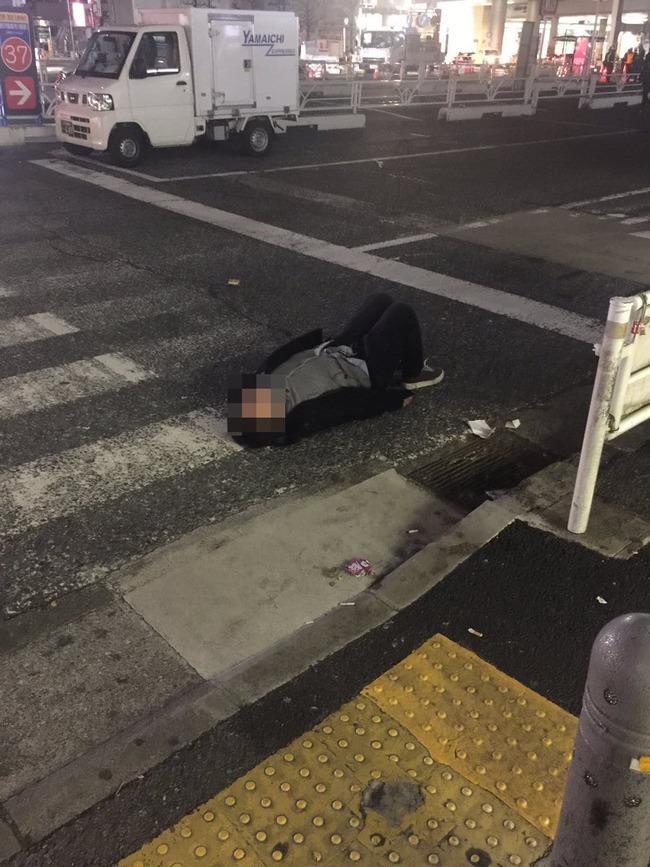渋谷 酔っぱらい 画像に関連した画像-02