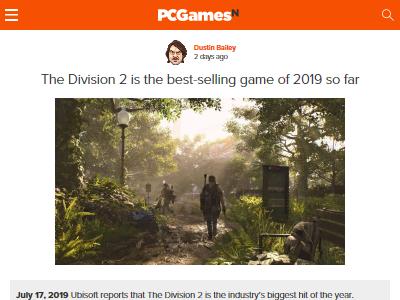 2019年 ディビジョン ディビジョン2 Ubisoftに関連した画像-02