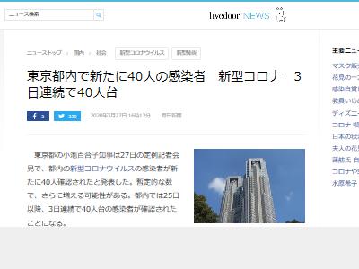 新型コロナウイルス 新型肺炎 東京都 感染者数 東京に関連した画像-02