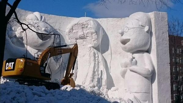 サザエさん マスオ 波平 雪まつりに関連した画像-02