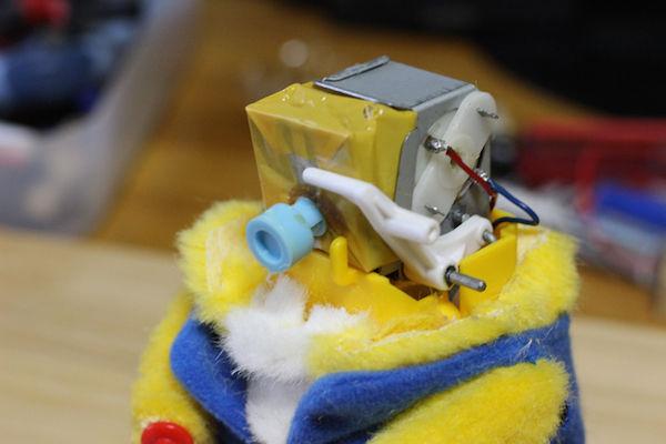 太鼓 クマのおもちゃ 改造 高速 モーターに関連した画像-05