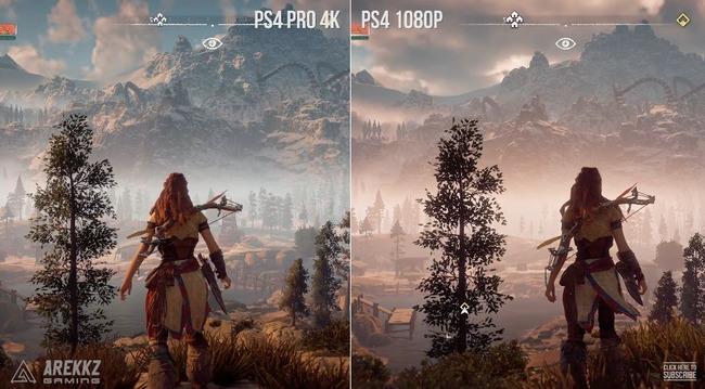 新の狩ゲー『ホライゾン』 PS4版vsPS4Pro版のグラ比較! Proすげぇえええええええ