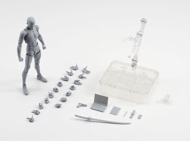 絵師 フィギュア ボディくん ボディちゃん 可動 刀 銃 装備 ポーズに関連した画像-12