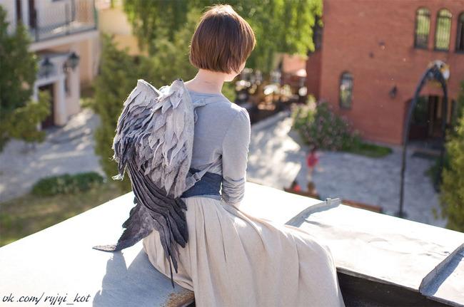 羽 バックパック 鳥の羽 リュックサック 鞄に関連した画像-02