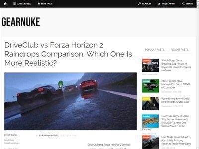 ドライブクラブ フォルツァ ホライゾン2 雨粒 比較に関連した画像-02