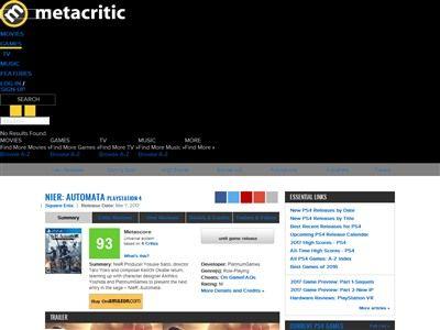 ニーアオートマタ メタスコア 海外 レビュー 評価に関連した画像-04