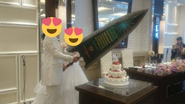 モンハン モンスターハンター 結婚式 ケーキ 入刀 ナイフ エピタフプレート 大剣に関連した画像-02