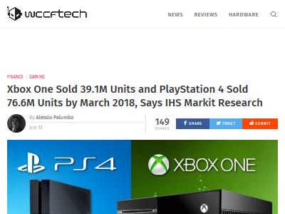 PS4 XboxOne 売上 公開に関連した画像-02
